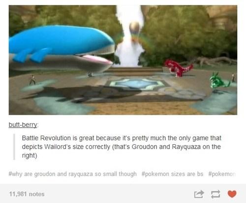 Pokémon Size in a Nutshell