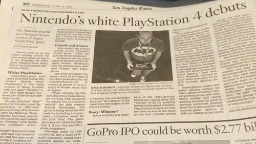 Nintendo is Now Making the PlayStation 4, According to the L.A. Times