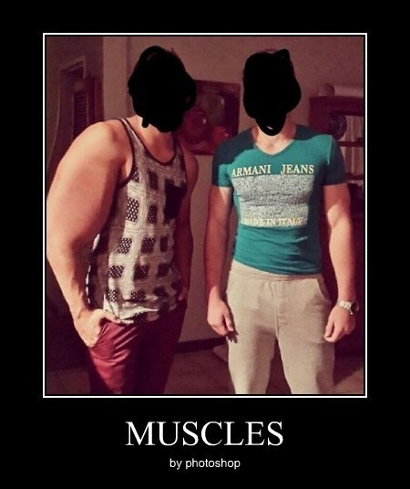 photoshop,idiots,muscles,funny