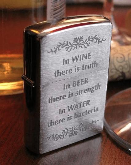 beer,lighter,funny,wine,water