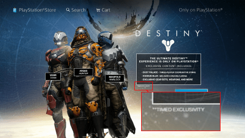 PS4's Destiny Exclusives Are Only Timed