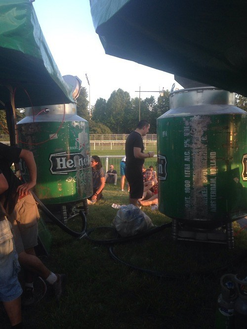 Some Seriously Large Heineken Kegs