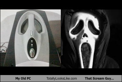 My Old PC Totally Looks Like That Scream Guy...