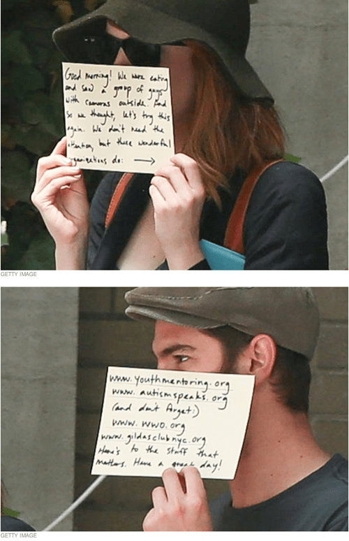 Andrew Garfield and Emma Stone Know How to Stay Cool Around Paparazzi