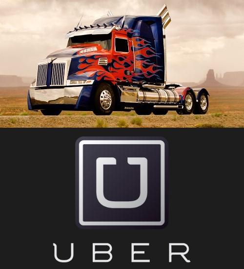 optimus prime,transformers,uber