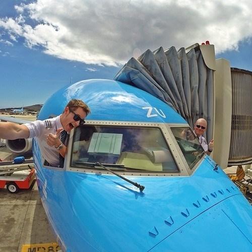 airplane,monday thru friday,pilot,selfie