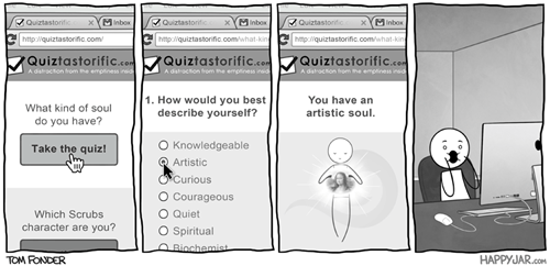 Basically What All Quizzes on The Internet Are