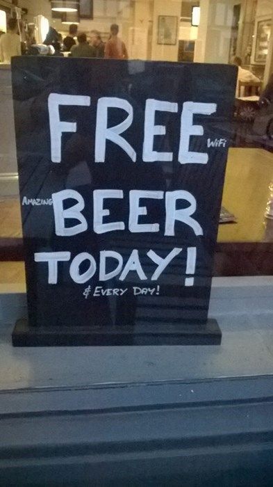 beer,alcohol,free beer today
