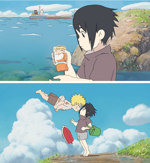 Ponyo Meets Naruto