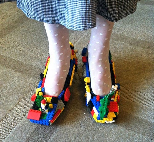 lego,shoes,poorly dressed,g rated