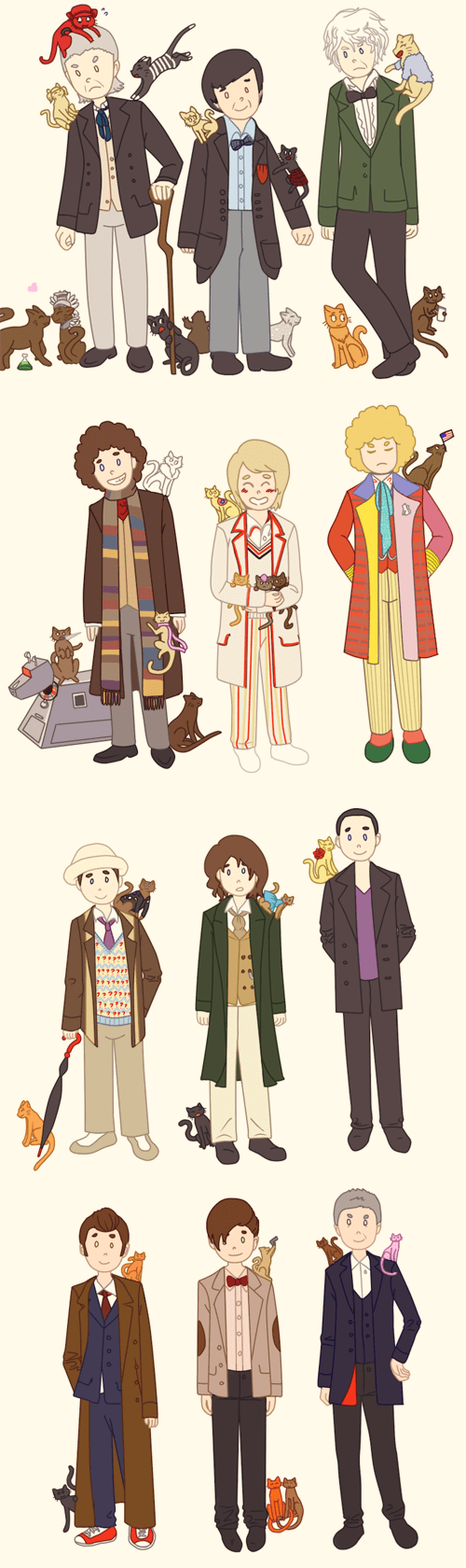 The Doctors With All Their Feline Companions
