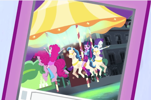 Pinkie's 4th wall-breaking skills still exist in EQG