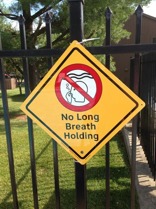Guess you can only DROWN at this pool.