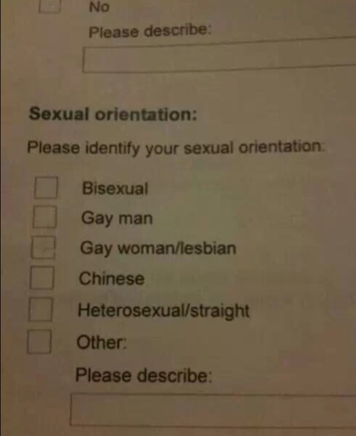 That's an Odd Sexual Orientation