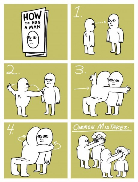 The Definitive Guide to Hugging a Man