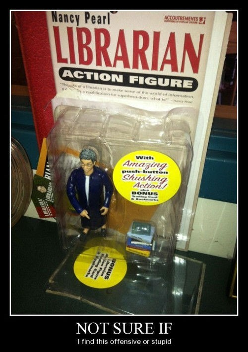 action figure,funny,librarian,nancy pearl