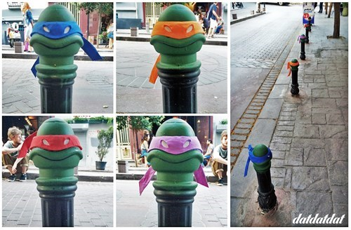 They Didn't Quite Look Appropriate Before, but Now These Posts Are Ninja Turtles!