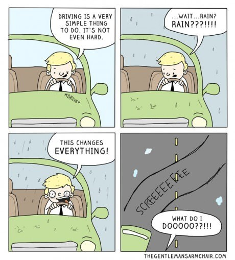 Every Damn Time,FAIL,driving,rain,web comics