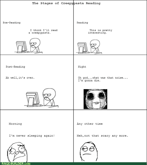 The Stages of Creepypasta Reading
