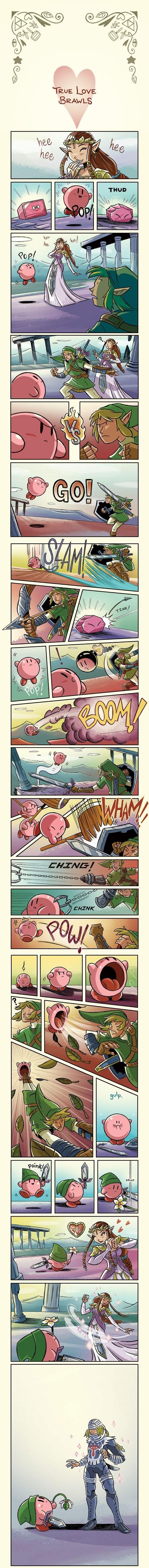 true love,super smash bros,kirby,zelda,web comics