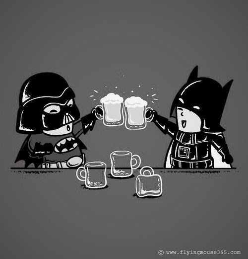 beer,darth vader,batman,funny