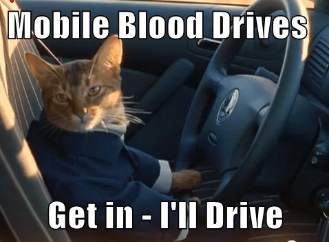Mobile Blood Drives  Get in - I'll Drive