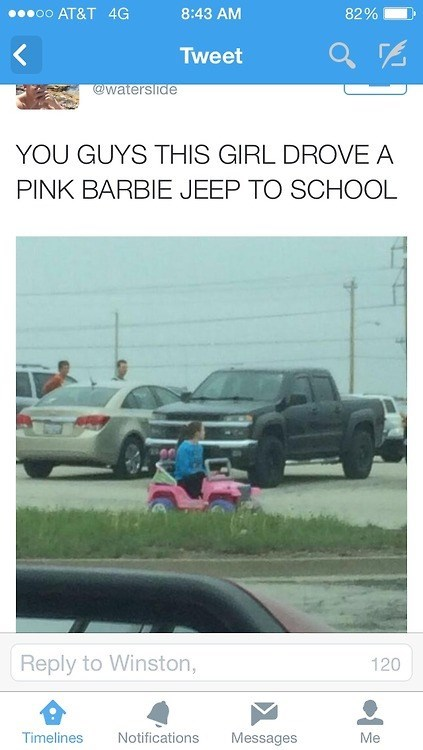Barbie,cars,twitter