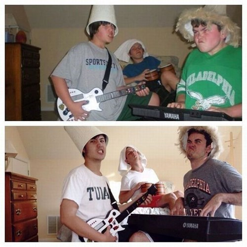 band,lampshade,poorly dressed,recreated