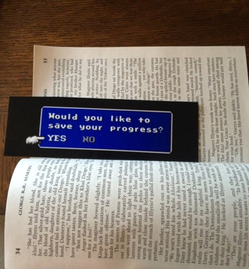 video game prompt bookmark