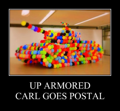 UP ARMORED CARL GOES POSTAL