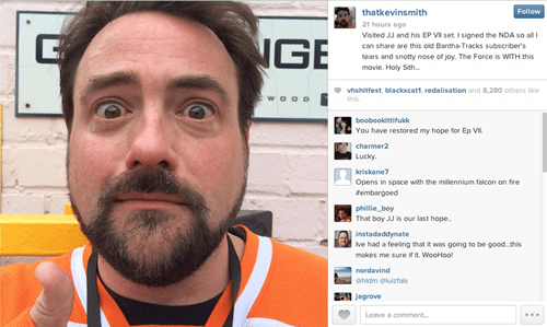 Kevin Smith Has Faith in Star Wars, and so Should You
