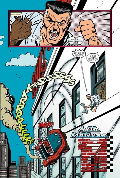 J Jonah Jameson,Straight off the Page,Spider-Man