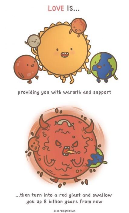 science,love,sun,solar system,web comics