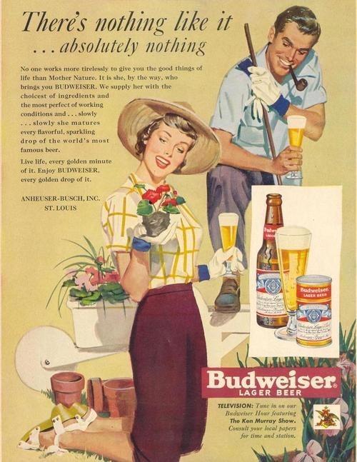 beer,ads,budweiser,funny,vintage