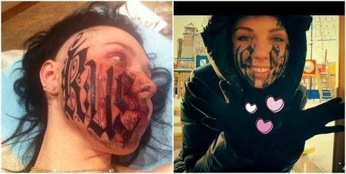 face tattoos,tattoos