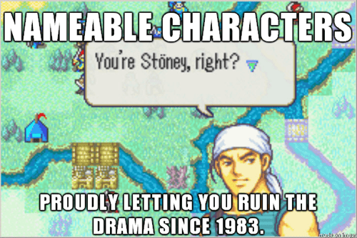 Naming Characters Shows Our Immature Side