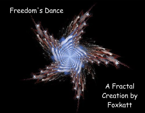 Freedom's Dance a fractal art creation by Foxkatt (otherwise known as Deb Lutz Fractals).