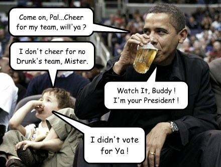 Kid One-Ups the Prez.