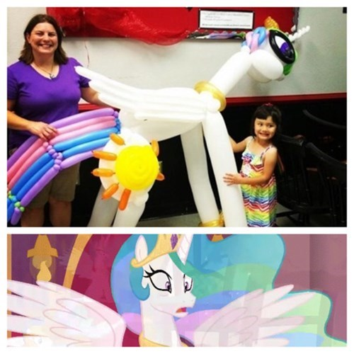 balloon art,princess celestia,wat