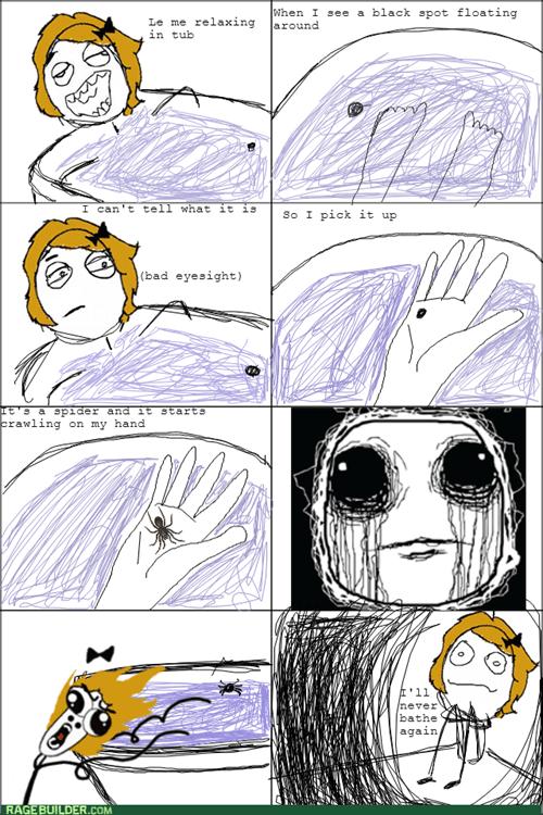 bath,bathtub,nope,spider