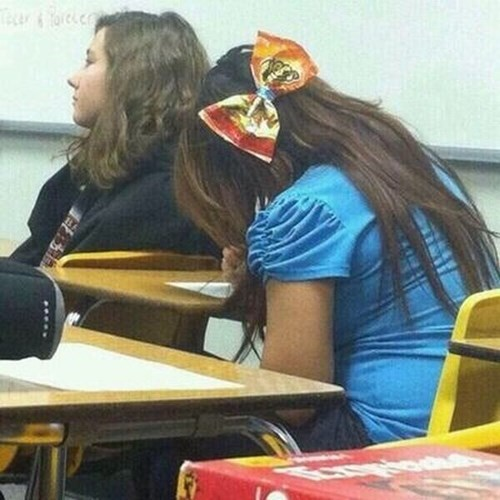 bow,cheetos,poorly dressed,g rated