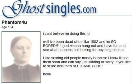 single,great beyond,ghosts,dating