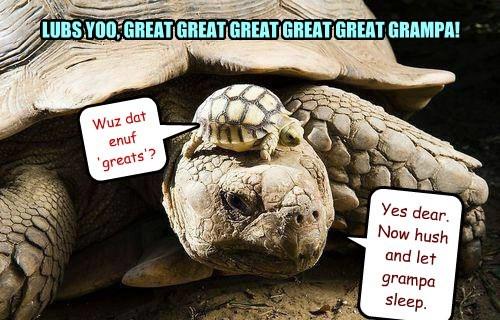 LUBS YOO, GREAT GREAT GREAT GREAT GREAT GRAMPA!