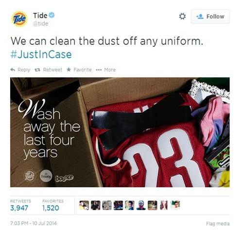 Tide Hits a Little too Close to home With Today's LeBron James News
