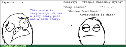 expectations vs reality,horror movies