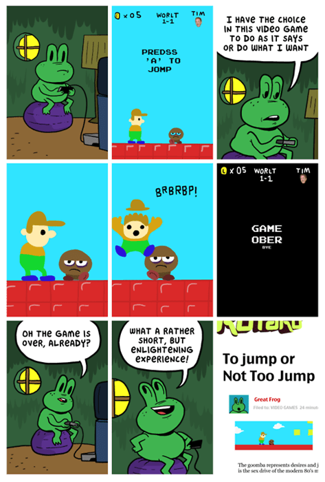 jumping,video games,web comics