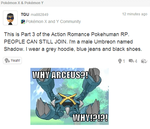 There is no Arceus