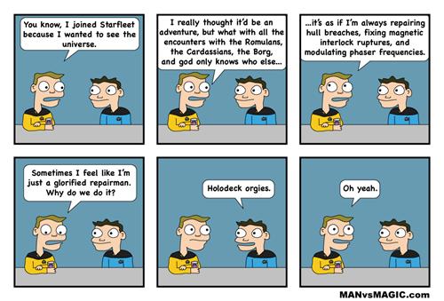 Star Trek,holodeck,web comics