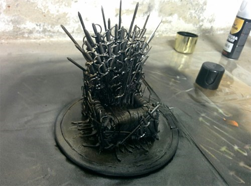 Iron Throne Made of Hors d'Oeuvres Swords
