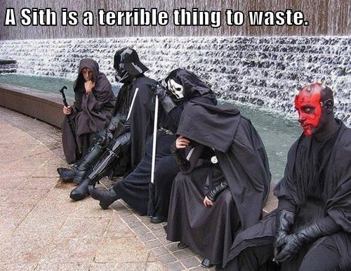 A Sith is a terrible thing to waste.